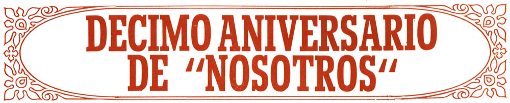 Enllaç al pdf: Décimo aniversario de Nosotros