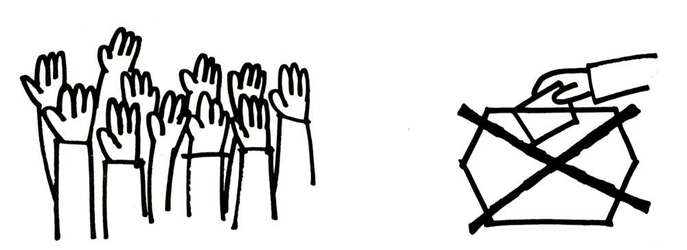 ¿Voto secreto o a mano alzada?