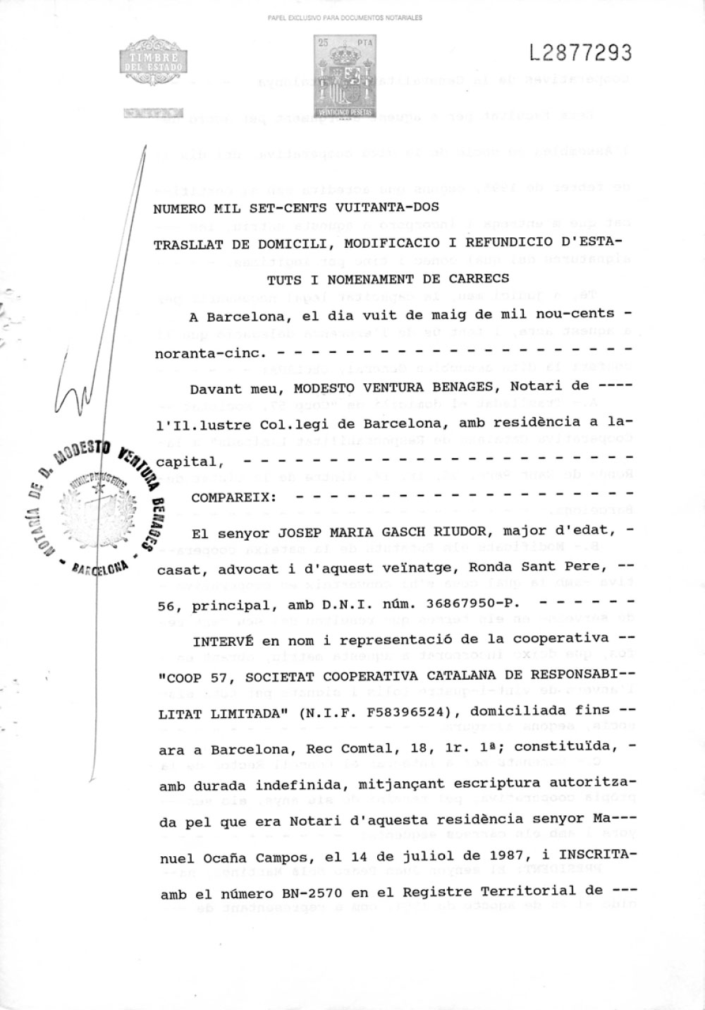 Constitució de Coop 57